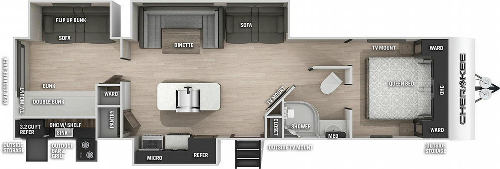 Cherokee 304BHBL Black Label Floor Plan - 2021