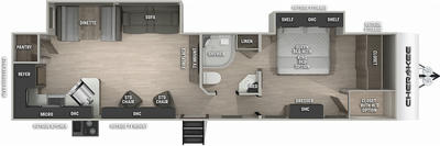 Cherokee 304RKBL Black Label Floor Plan - 2021