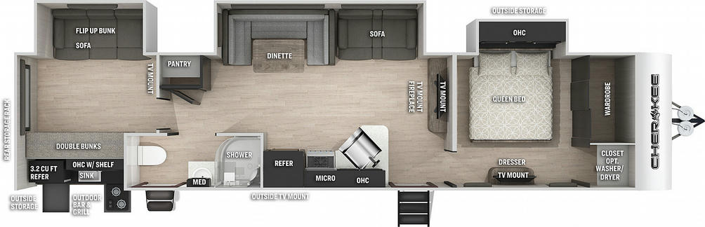 Cherokee 324TSBL Black Label Floor Plan - 2021