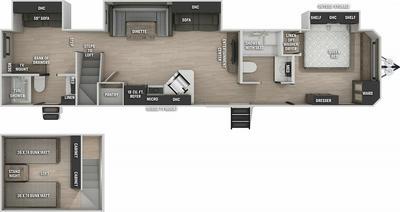 Cherokee 39CA Floor Plan - 2021