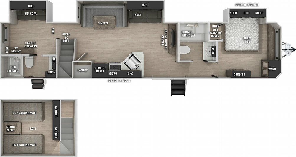 Cherokee 39CABL Black Label Floor Plan - 2021