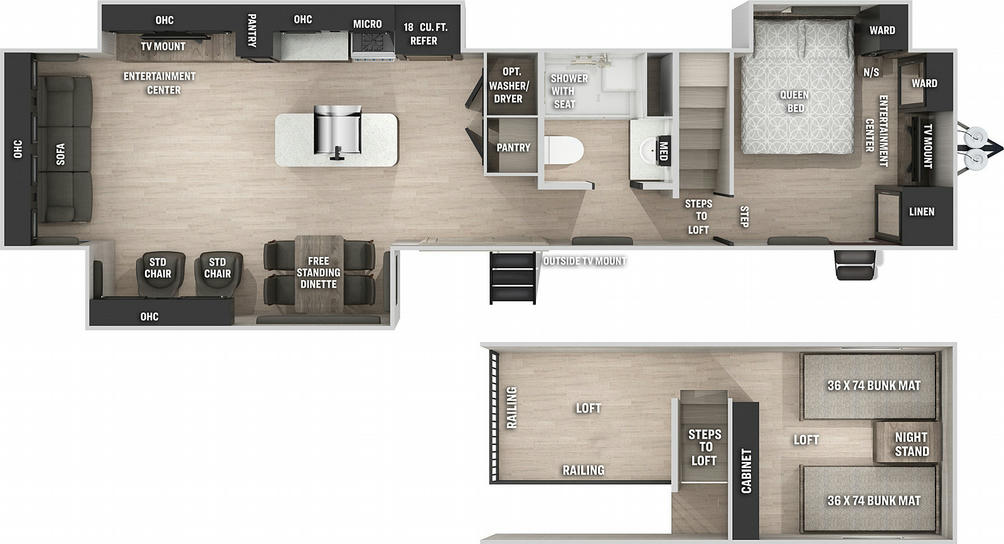 Cherokee 39DL Floor Plan - 2021