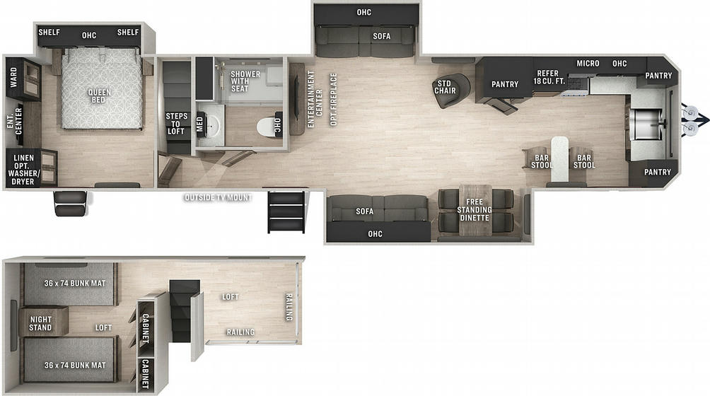 Cherokee 39LB Floor Plan - 2021