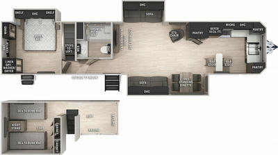 Cherokee 39LBBL Black Label Floor Plan - 2021