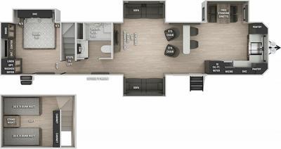 Cherokee 39SR Floor Plan - 2021