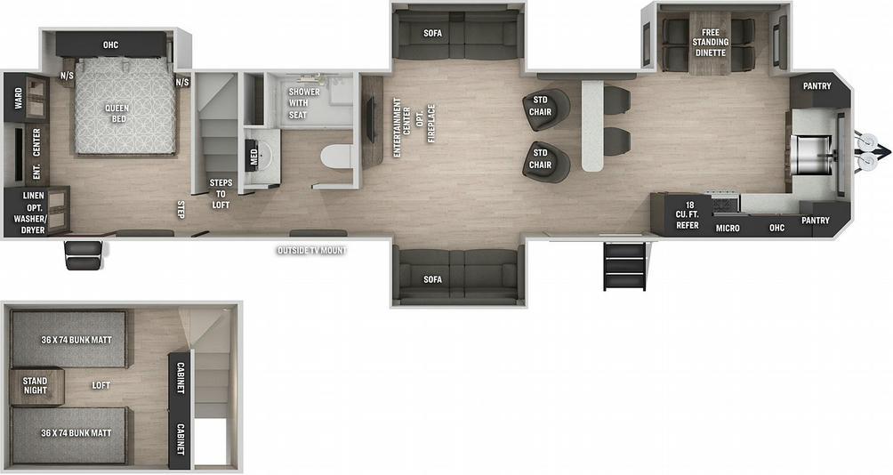Cherokee 39SRBL Black Label Floor Plan - 2021