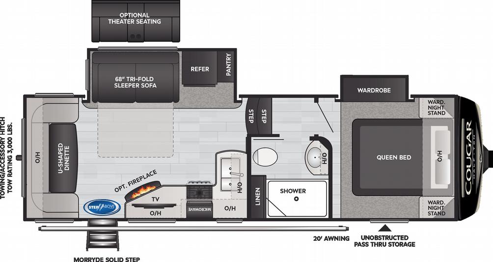 Cougar Half Ton 24RDS Floor Plan - 2021