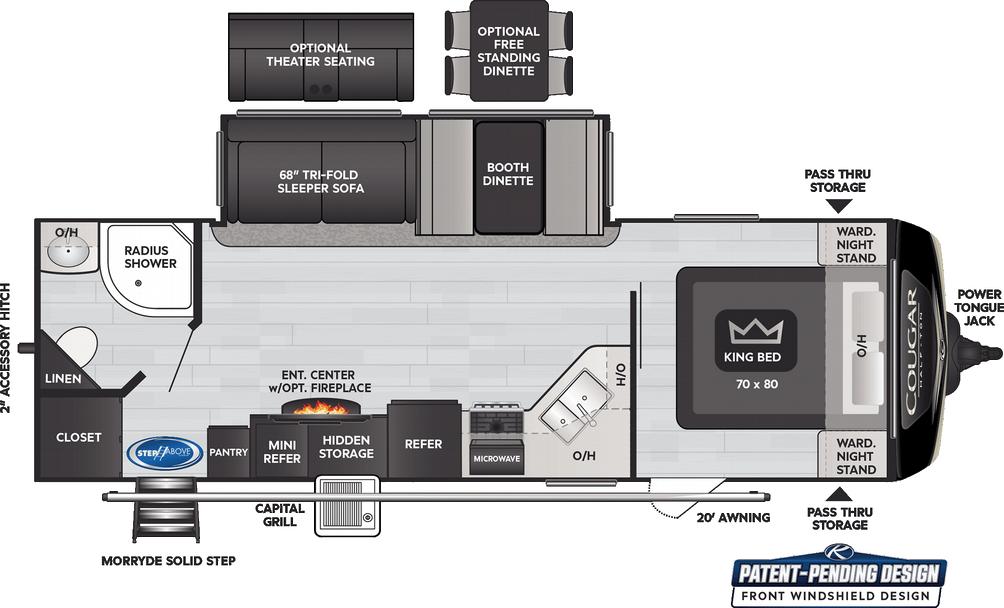 Cougar Half Ton 26RBS Floor Plan - 2021