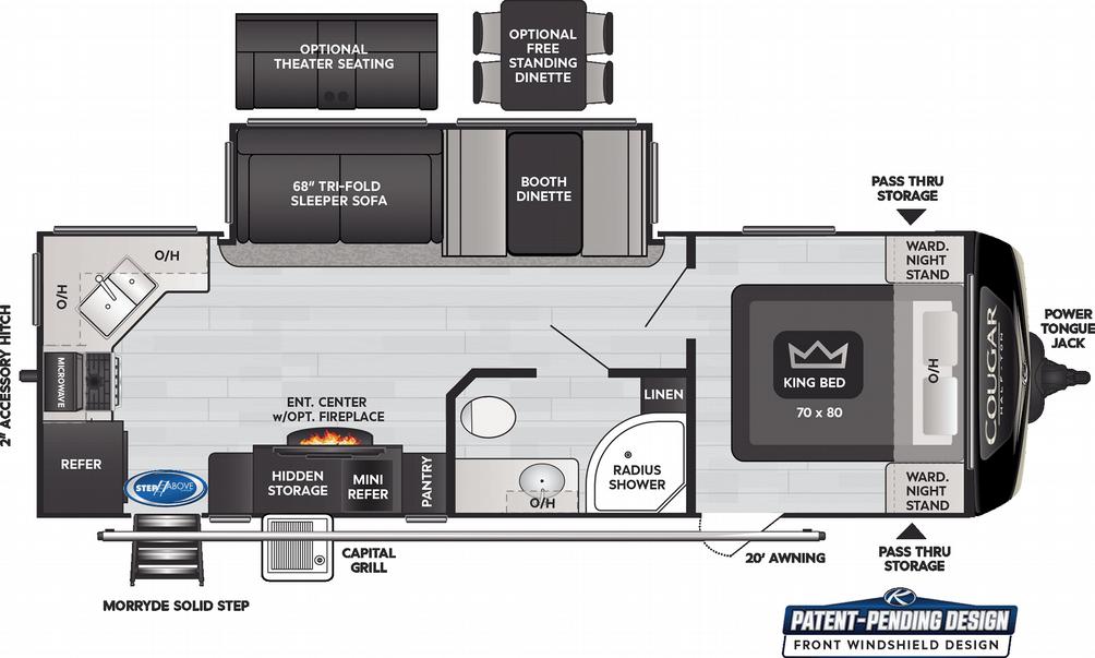 Cougar Half Ton 26RKS Floor Plan - 2021