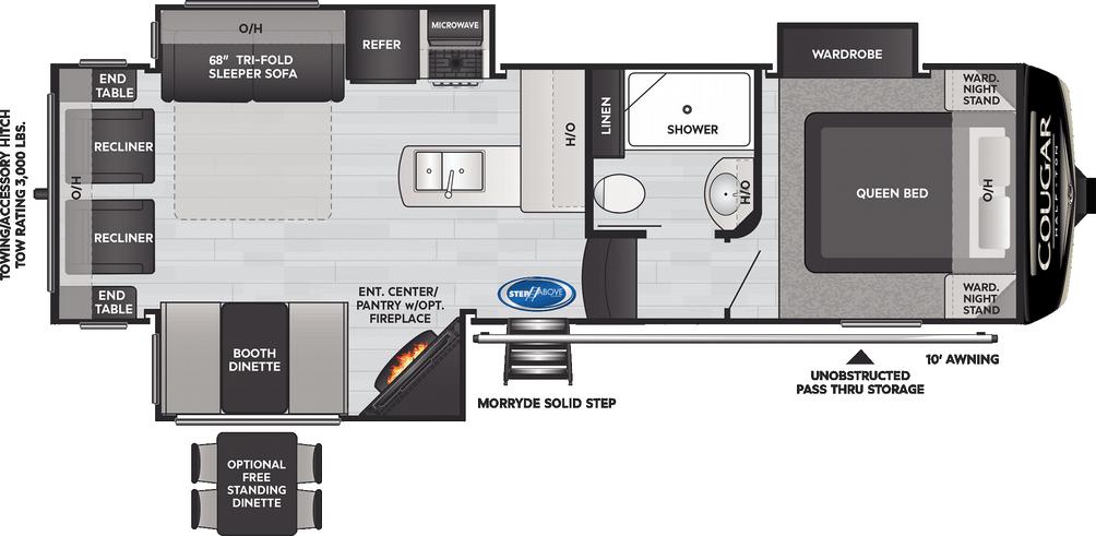 Cougar Half Ton 27SGS Floor Plan - 2021