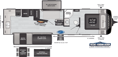 Cougar Half Ton 31MBS Floor Plan - 2021