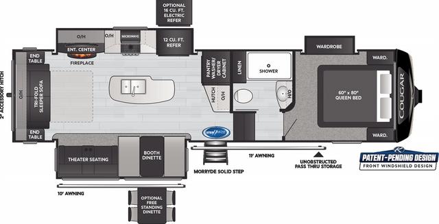 Cougar 290RLS Floor Plan - 2021
