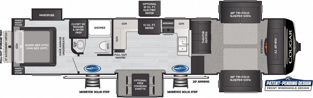 Cougar 354FLS Floor Plan - 2021