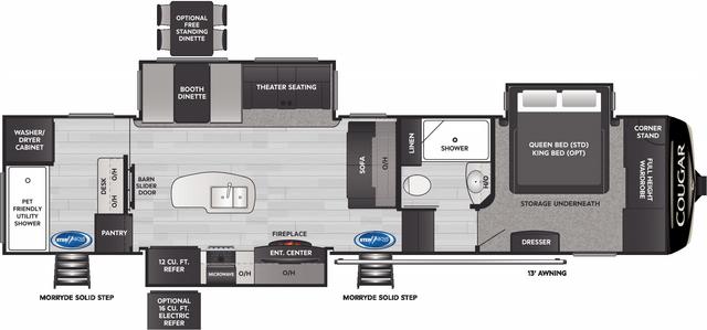 Cougar 357UMR Floor Plan - 2021
