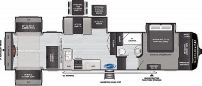 Cougar 366RDS Floor Plan - 2021