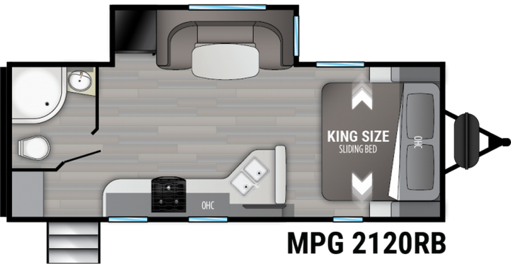Cruiser MPG 2120RB Floor Plan - 2021