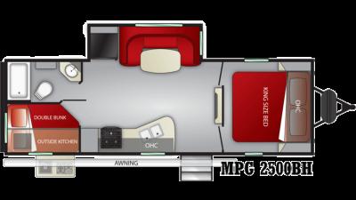 2020 Cruiser MPG 2500BH - CR1796