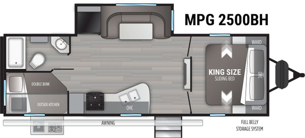 Cruiser MPG 2500BH Floor Plan - 2021