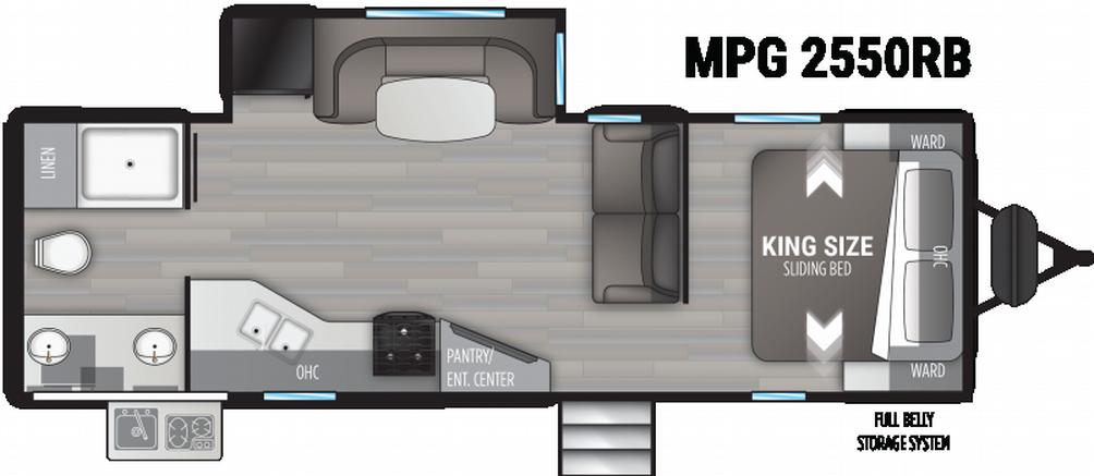 Cruiser MPG 2550RB Floor Plan - 2021