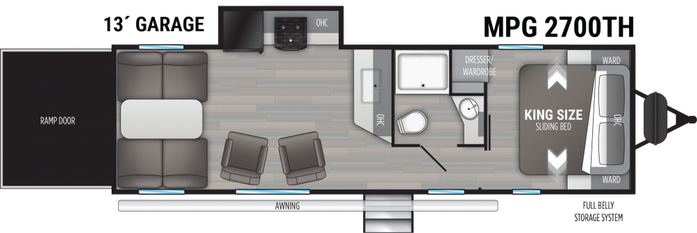 Cruiser MPG 2700TH Floor Plan - 2021