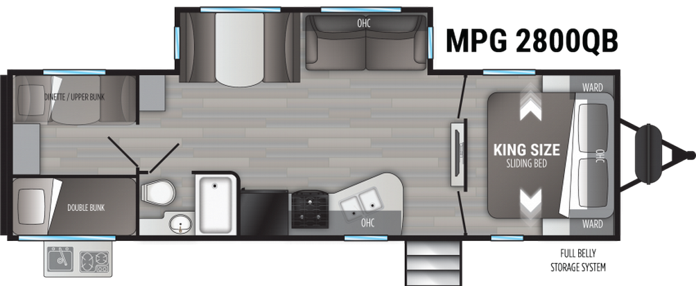 Cruiser MPG 2800QB Floor Plan - 2021