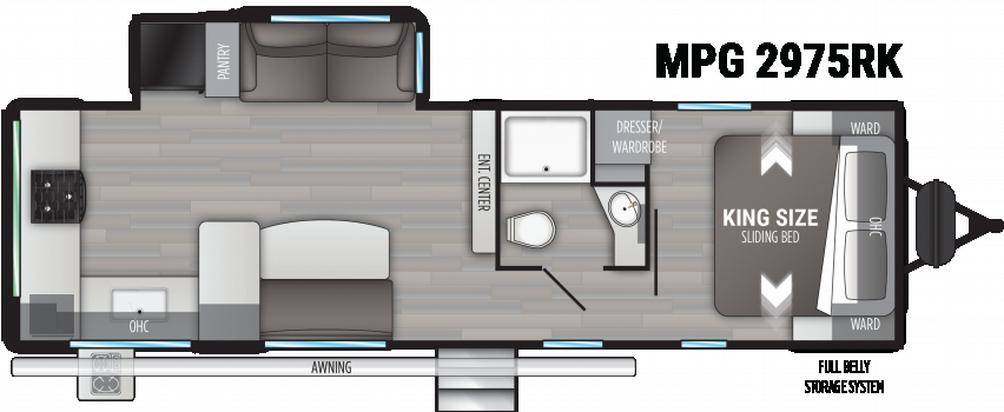Cruiser MPG 2975RK Floor Plan - 2021