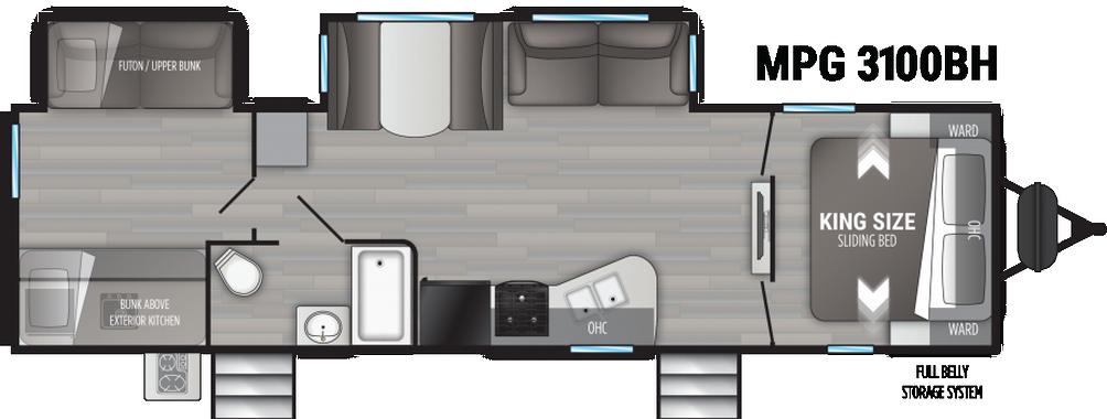 Cruiser MPG 3100BH Floor Plan - 2021