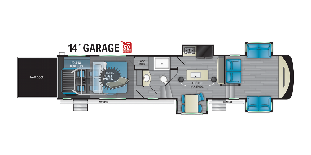 Cyclone 4214 Floor Plan - 2021