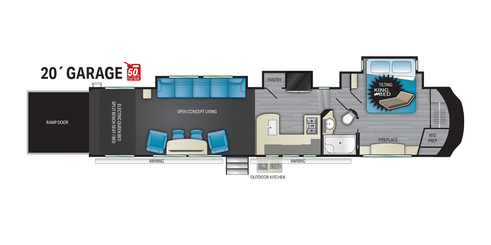Cyclone 4220 Floor Plan - 2021