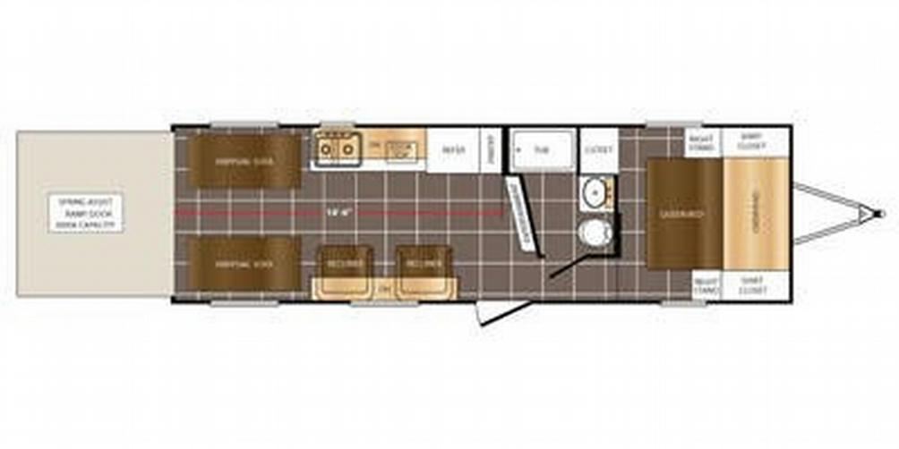 FURY 2614X Floor Plan - 2016