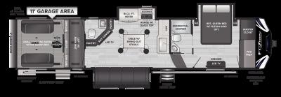 Fuzion 373 Floor Plan - 2021