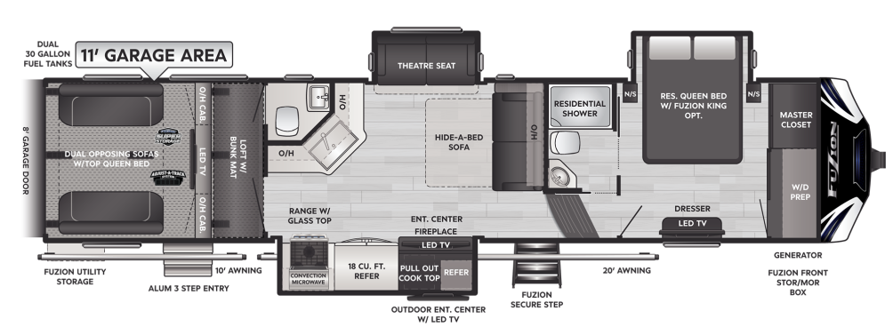 Fuzion 379 Floor Plan - 2021