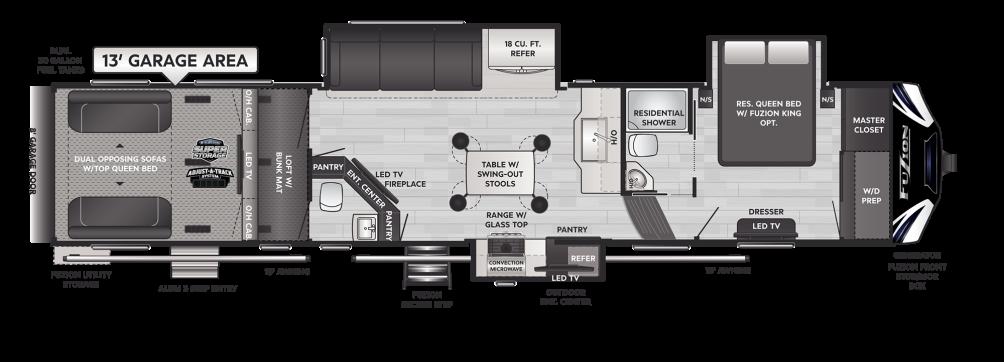 Fuzion 427 Floor Plan - 2021