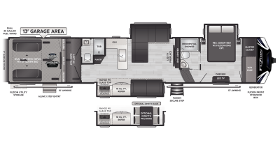 Fuzion 430 Floor Plan - 2021