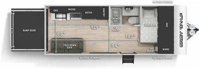 Grey Wolf 18RR Floor Plan - 2021