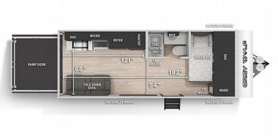 Grey Wolf 18RRBL  Floor Plan - 2021