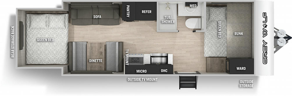 Grey Wolf 19SM Floor Plan - 2021