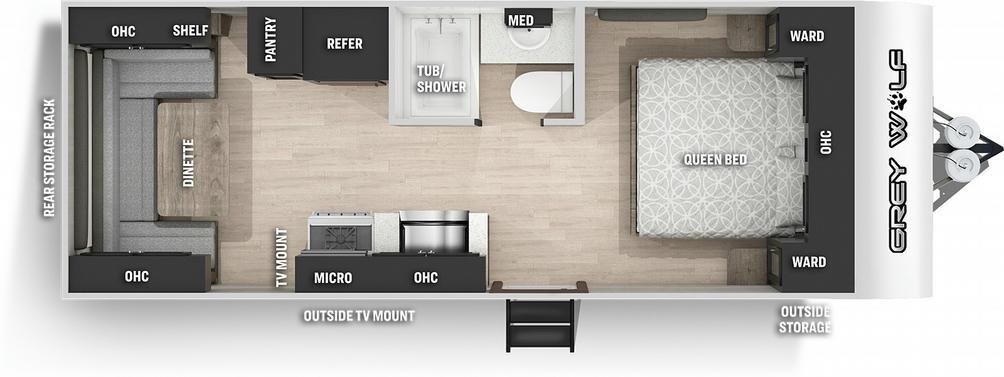 Grey Wolf 20RDSE Special Edition Floor Plan - 2021