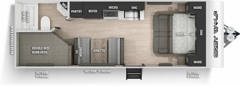 Grey Wolf 22MKSE Special Edition Floor Plan - 2021