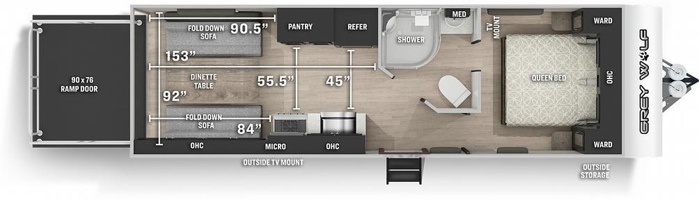 Grey Wolf 22RR Floor Plan - 2021