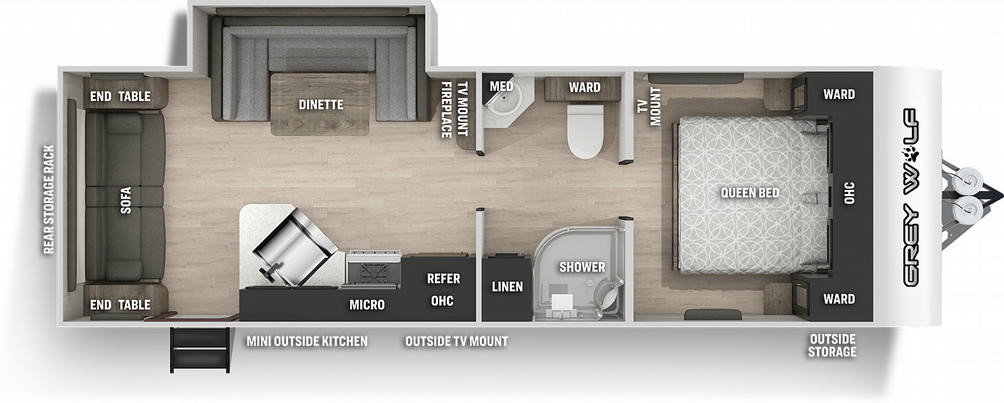 Grey Wolf 23MK Floor Plan - 2021