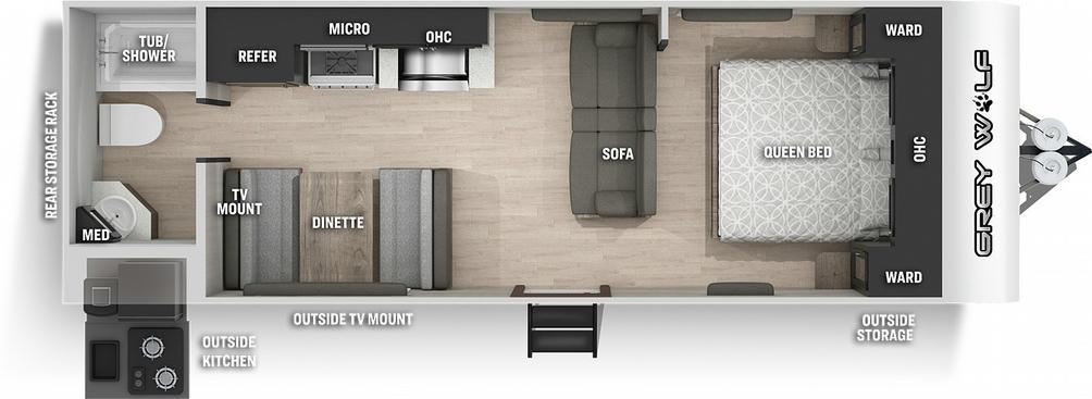 Grey Wolf 24JS Floor Plan - 2021