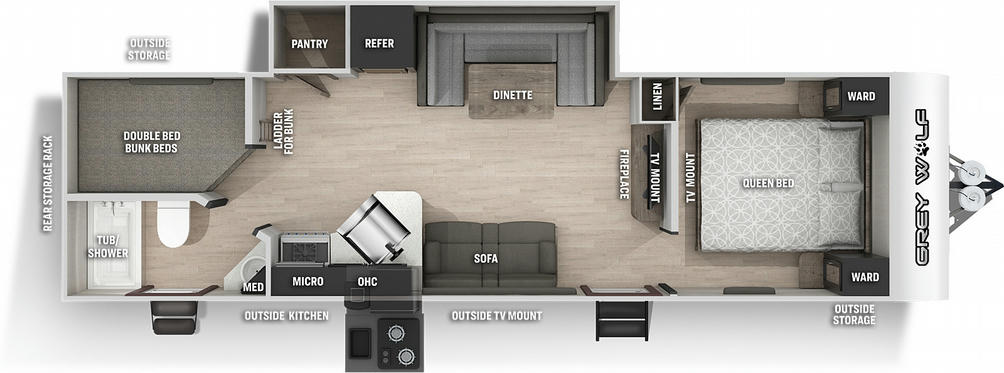 Grey Wolf 26BRBBL Black Label Floor Plan - 2021
