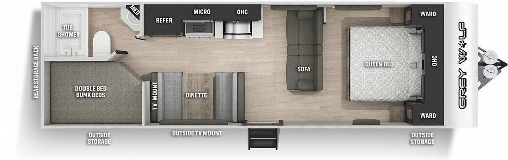 Grey Wolf 26DJSE Special Edition Floor Plan - 2021