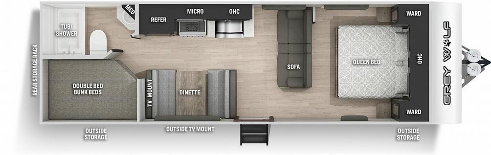Grey Wolf 26DJSE Special Edition Floor Plan - 2021