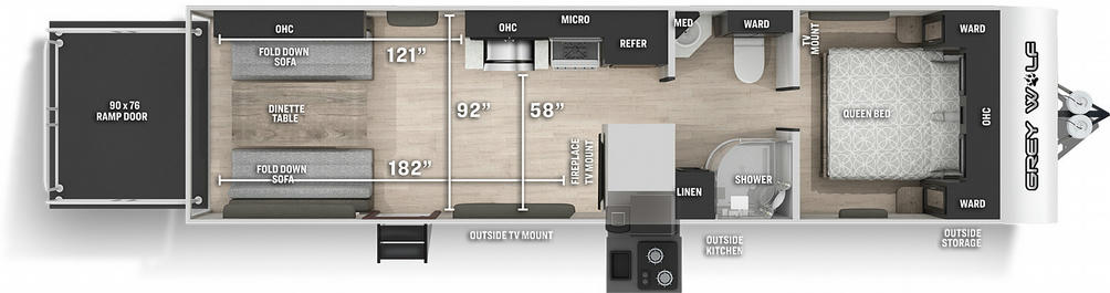 Grey Wolf 26MBRRBL Black Label Floor Plan - 2021