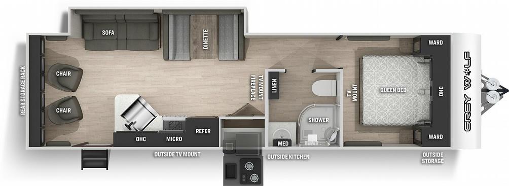 Grey Wolf 26MKBL Black Label Floor Plan - 2021