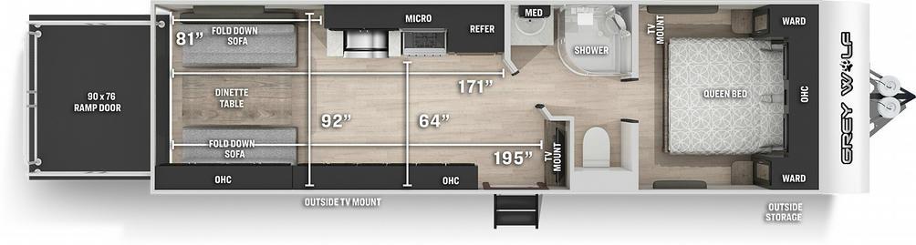 Grey Wolf 26RR Floor Plan - 2021