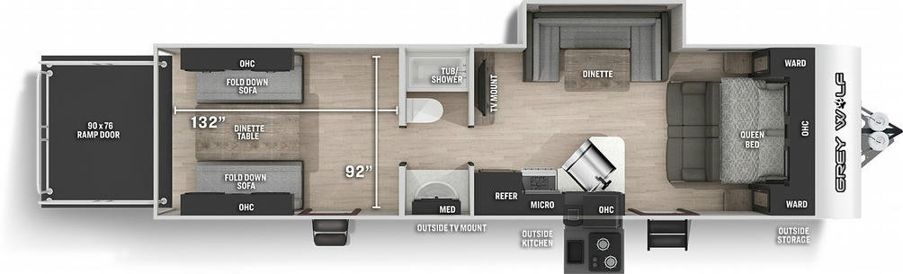 Grey Wolf 27RR Floor Plan - 2021