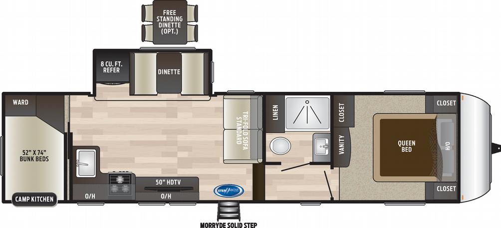hideout-fifth-wheel-295bhs-floor-plan-1986
